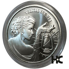 Veritas Lux Mea Truth Is My Light 1 oz .999 fine silver round Satin Small Reed