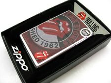 ZIPPO Full Size Street Chrome ROLLING STONES Logo Windproof Lighter! 28843