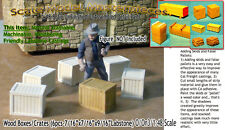 Wood Crates/Boxes (6pcs) Scale Model Masterpieces/ Yorke On30 Fine Craftsman
