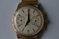 1950's Vintage Zenith chronograph watch in 18k yellow gold w/ 18k Band