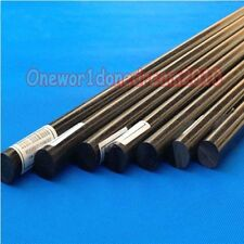 "Black ACETAL POM Plastic Round Bar Rods Lot Diameter 20mm length 500mm ( 20"")"