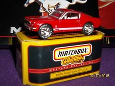 1965 RED FORD MUSTANG GT 2+2 Diecast VHTF LQQK:) Premiere Matchbox Collectibles.
