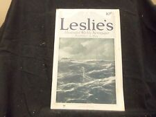 1915 AUGUST 5 LESLIE'S WEEKLY MAGAZINE - APPROACH OF THE SUBMARINE - ST 1334