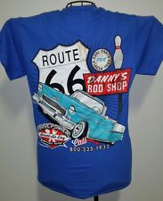 DANNY'S ROD SHOP HOTROD MED. TEE SHIRT ROUTE 66 /1955 CHEVY/CONVERTIBLE/CRUSING