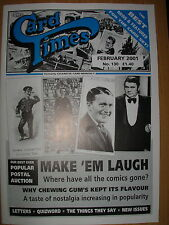 CARD TIMES MAGAZINE FORMERLY CIGARETTE CARD MONTHLY No 130 FEBRUARY 2001