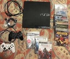 Sony PlayStation PS3 Slim 160GB  Black Console System CECH-3001A With Extras