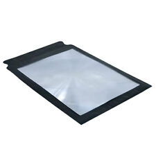 A4 Full Page Large Sheet Magnifier Magnifying Glass Reading Aid Lens Fresnel New