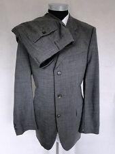 Joop Anzug Original Einreiher Grau Unifarben Schurwolle Gr. 52