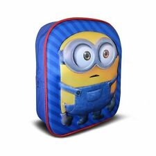 MINIONS 3D PREMIUM BACKPACK SCHOOL / TRAVEL BAG : WH3# : 993 : BRAND NEW