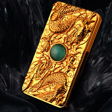 Gold USB Electronic Rechargeable Dragon Flameless Cigarette Lighter