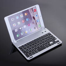 For iPad Mini 4/3/2/1 Aluminum Stand Case Cover w/ Wireless Bluetooth Keyboard