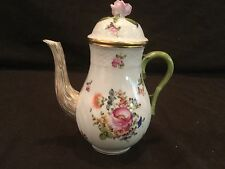 HEREND SMALL BOUQUET OF FLOWERS INDIVIDUAL MINI TEAPOT/COFFEE POT  GOLD RIM