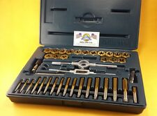 Drill Hog USA 40 Pc Tap & Die Set SAE Tap Rethreading Titanium Lifetime Warranty