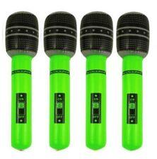 4 x gonflable blow up vert microphone déguisements disco sac de fête jouets 40cm