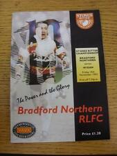 19/11/1993 Rugby League Programme: Bradford Northern v Wigan. This item is in ve