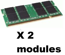 2GB PC2700 DDR LAPTOP MEMORY 333 mhz SODIMM RAM 200p NOTEBOOK = 2 x 1gb KINGSTON