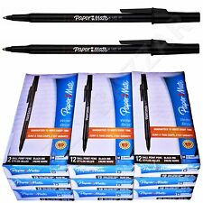 108 Papermate Pens Black Paper Mate Pen Ink Office Ball Point Bulk Wholesale