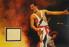 FREDDIE MERCURY Signed 14x10 Photo Display QUEEN BOHEMIAN RHAPSODY COA
