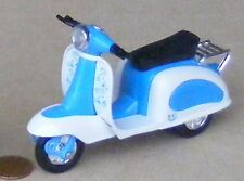 Blue & White Plastic & Metal Scooter Dolls House Miniature Garden Accessory