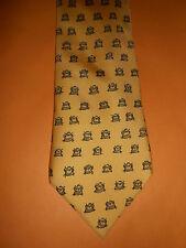 HERMES PARIS Yellow Owls Suit Tie 7906 MA