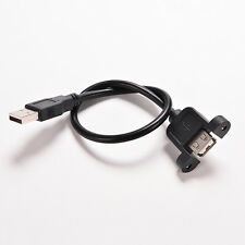 USB 2.0 Male to Female Extension Panel Mount Extention Port Cable Chic LACA