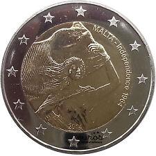 """Pièce 2 euros MALTE 2014  """"Indépendance 1964-2014"""" - 400 000 exemplaires - UNC"""