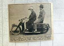 1921 New Form Of Motorcycle With Safe Pillion Seat