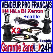 2 AMPOULE LAMPE FEU CABLE POUR KIT AU BI XENON HID H4 -3 Hi/Lo EN 8000k 35W 12V
