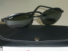 VINTAGE B&L RAY BAN USA SLEEK BLACK SIDESTREET METAL G15 UV CATS SUNGLASSES NEW!