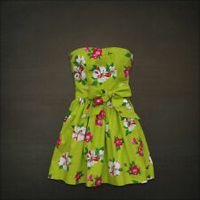 NWT! HOLLISTER by Abercrombie Womens Floral Sun Beach Summer Dress Green M