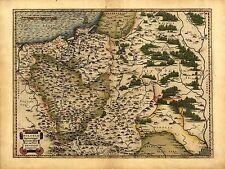 Abraham Ortelius Polonia Lituania Rusia Repro Antigua Antiguo Mapa 1570 plan soviético