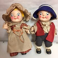 Vintage Rare Campbell Soup Dolls Boy &  Girl COLONIAL Patriotic & Collectable
