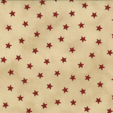 OLD GLORY GATHERINGS~BY 1/2 YD~MODA~1074-12~Red STARS ON PIE TAN