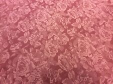 10m Dusky Pink Rose Self Print Woven Fabric FREE POSTAGE