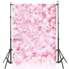 5x7ft Pink Flower Romantic Backdrop Background Photography Props
