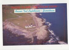 Beaver Tail Lighthouse Jamestown Rhode Island Postcard USA 402a ^