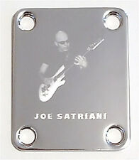 GUITAR NECK PLATE Custom Engraved Etched - Chickenfoot JOE SATRIANI - CHROME