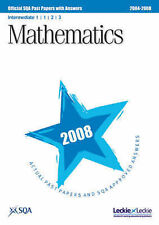 SQA Maths Intermediate 1 (Units 1, 2 and 3) SQA Past Papers 2008 Very Good Book