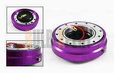 RACING SPEC 6 BOLT PATTERN PURPLE SLIM STEERING WHEEL QUICK RELEASE PUSH LOCK/OP