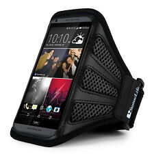 Sumaclife Black Mesh Workout Running Gym Armband Case for HTC One M8 for Windows