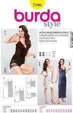 Gratis Reino Unido Envío-Burda señoras fácil patrón de costura 7186 Vestidos denoche & Lin...