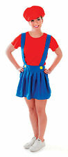 Ladies Red Super Mario Fancy Dress Costume Hen Do Party Womens UK 10-14
