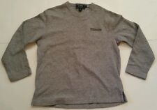 RALPH LAUREN POLO SPORT V-NECK LONG SLEEVE SIZE LARGE VINTAGE GRAY SPELLOUT