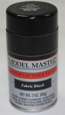 TESTORS MODEL MASTER - Lacquer Spray Paint - FABRIC BLACK 28142
