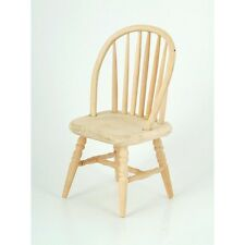 Llano Madera Husillo Back Chair, Casa De Muñecas Miniaturas, Muebles, 1.12 Escala