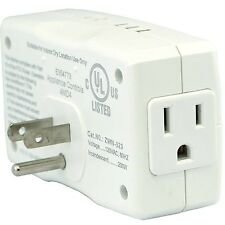 Enerwave Z-Wave Outlet Wireless Control Plug-In Dimmer Switch Module White