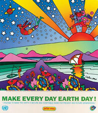 "Peter Max ""Make Every Day Earth Day"" Lithograph"