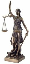"12.5"" Lady Justice Statue Greek Goddess Rome Statue Collectible Sculpture Law"