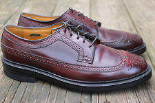 VTG Florsheim Royal Imperial Shell Cordovan Wingtip Shoes 9.5 E Mens Deadstock