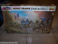 1980 Lindberg Kit #352 Horse Drawn Field Artillery Union/Confederate OB sealed